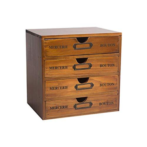 LXDDP Schmuckschatulle, massivholz Kosmetik schmuck aufbewahrungsbox büroschrank kleine schublade Kosmetik aufbewahrungsbox