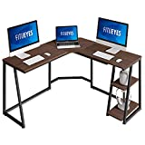 FITUEYES L Shaped Desk with Storage, Corner Computer Desk for Home Office, LCD114002WE