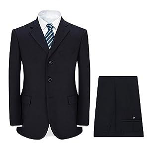 FOMANSH スーツ メンズ 上下セット スリム 3つボタン ビジネス 結婚式 入学式 卒業式