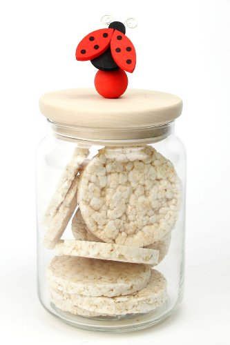 Legnomagia - made in Italy: COCCINELLA biscottiera - ml. 2000