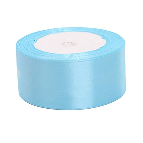 kentop 4cm cinta de raso seda bandas lazo regalo cinta seda satén boda banda decorativa, tela, azul, 4*200cm