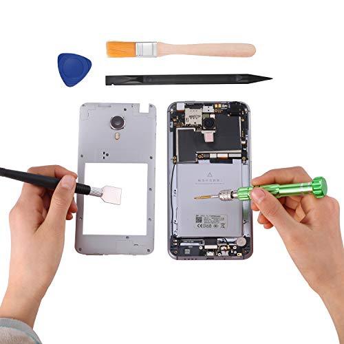 KWOKWEI Reparatur Werkzeug Set, 20 in 1 schraubendreher Set mit Mikrofasertuc, Universal Öffnungs Werkzeug Tool Kit mit 6 Schraubendreher für Smartphones iPhone, Samsung, LG, Sony, Huawei, HTC, Nokia