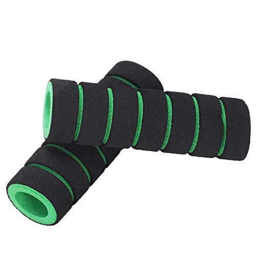 MCLJR Fahrradlenker, Ergonomischer Sponge Lenker, Gemütlich, Fit Bike Gerade Griffe von 22 mm Durchmesser (4,3 * 0,86 Inches),Grün