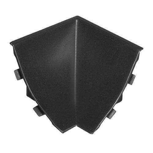HOLZBRINK Rinconera interior: de PVC a juego con el copete de encimera negro 23x23 mm