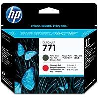 (まとめ) HP771 プリントヘッド マットブラック/クロムレッド CE017A 1個 【×3セット】