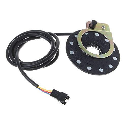 MQEIANG Bicicleta eléctrica del Pedal 12 Imanes E-Bici Pas Sensor de Velocidad...