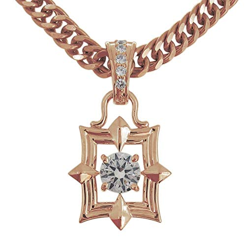 [プレジュール]喜平ネックレス メンズ 30代 ピンクゴールド 金 K18 ダイヤモンド ネックレス