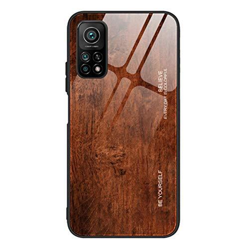 Compatible con Xiaomi Mi 10T 5G Case Xiaomi Mi 10T Pro 5G Grano de Madera Vidrio Templado Funda Antigolpes Cover Antiarañazos Bumper (Xiaomi Mi 10T Pro 5G, 05)