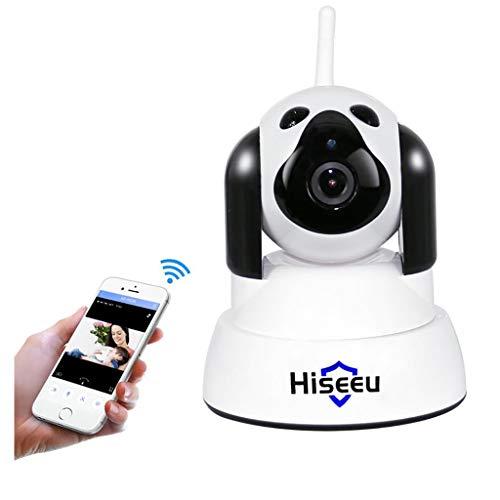 BABY MONITOR ZLMI Moniteur de bébé Intelligent Caméra réseau Domestique Moniteur sans Fil WiFi 720p Alarme de Chiot d'animal Mignon Compatible avec Android/iOS,White