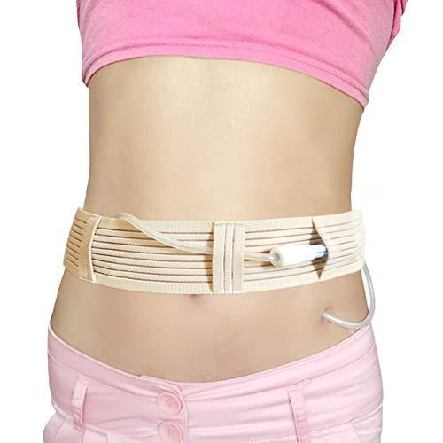 Breathable Peritoneal Dialysis Belt Stretch G/Peg Feeding Tube Holder PD Catheter Covers Bag Drainage Abdominal Fixation Medical Nursing Supplies, Medium(28-41 Inch) Beige