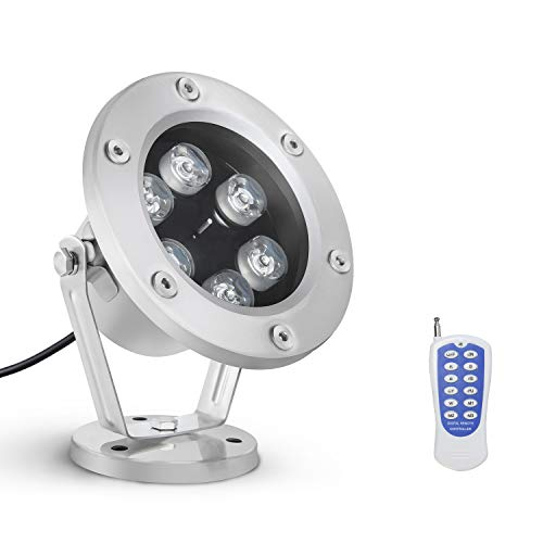 RSN LED Underwater Light 18W RGB Waterproof Grade IP68 LED Color Changing Spot Light Landscape Lighting Suitable for Swimming Pools, Fountains, Waterfalls, Aquariums, Fish Ponds, Party Christmas Etc