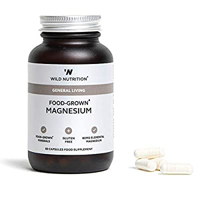 Wild Nutrition Food-Grown Magnesium 60 Capsules. Gluten Free by Wild Nutrition