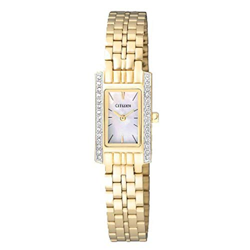 Citizen Analog Mother of Pearl Dial Unisex Watch - EZ6352-58D