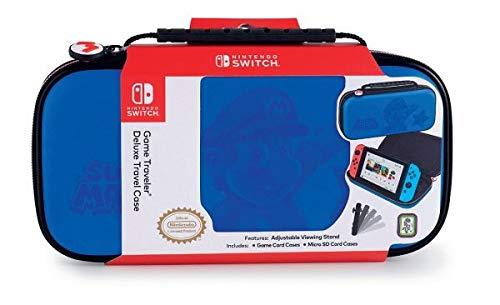 Big Ben Game Traveler Deluxe System Case Super Mario Blue Nintendo Switch