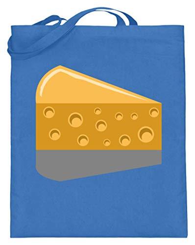 SPIRITSHIRTSHOP Käse - Cheese, Maus, Milch, Käsesorten, Essen, Milchprodukte, Ernährung, Nahrungsmittel - Jutebeutel (mit langen Henkeln) -38cm-42cm-Blau