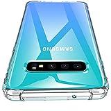 Losvick Coque Galaxy S10 Plus 2019, Housse Liquid Clear Silicone Souple Premium TPU [Angles...