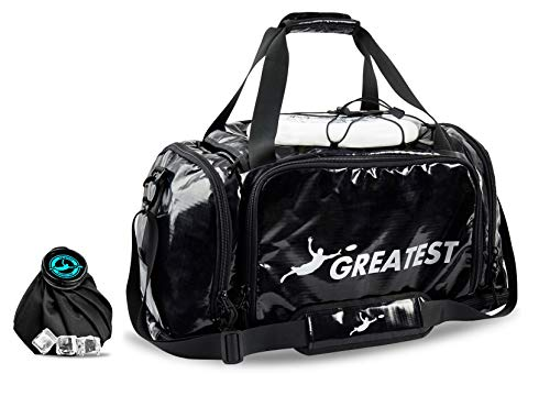 GREATEST Ultimate Bag 60 Liter - #1 World's Ultimate Frisbee Bag. Built in Insulated Cooler Compartment and Organization System. Also Perfect Sports Duffel Bag for Other Outdoor Sports (Silver)