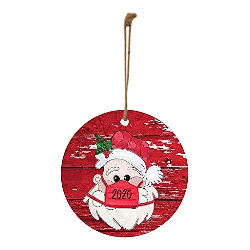 XXLYY adornos de madera para árbol de Navidad, colgante de Papá Noel, adorno de árbol de madera, decoración del hogar, decoración de fiestas, manualidades, regalo de Navidad para niños, niñas (A, 10)