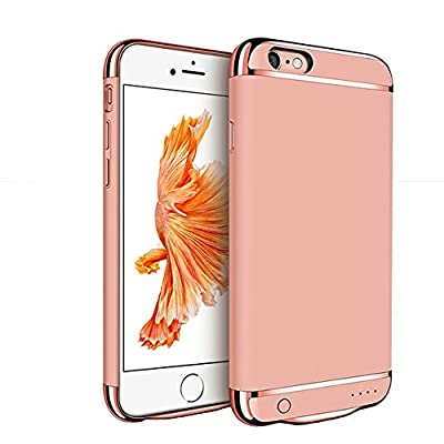 iPhone 6 / 6S Battery Case, F.Dorla Ultra thin Extended Rechargeable Protective Protable Slim Case with 2500mAh Capacity / 110% Extra Battery,Fast Chargeing Power Bank