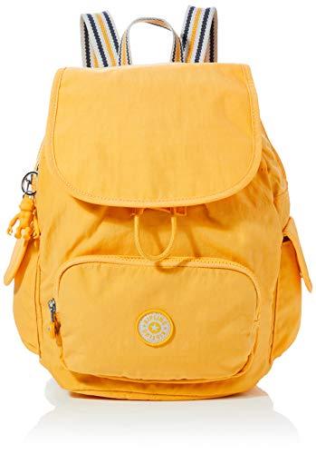 Kipling Damen City Pack S Rucksack Gelb (Vivid Yellow)