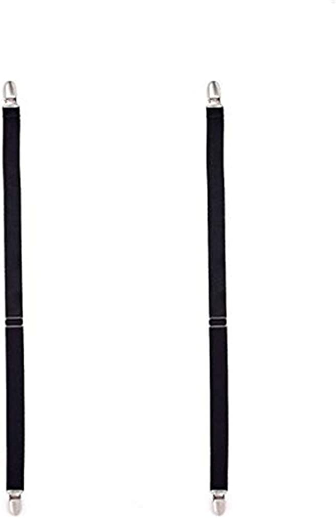 Sevenfly 1 Pcs Multifuction Adjustable Elastic Stocking Clip Garter Suspender(black)