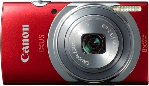 Canon IXUS 150 Digitalkamera (16 MP, Bildstabilisator, 28mm Weitwinkelobjektiv) rot