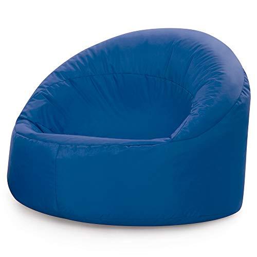 Bean Bag Bazaar Silla Tipo Puf Infantil Clásico – 68cm x 54cm, Puf Grande Infantil para Interiores o Exteriores (Azul, 1)