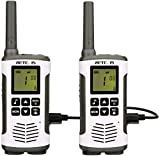 Retevis RT45 Walkie Talkie Rechargeable FRS Flashlight LCD AA Battery VOX Call Tone Baby Monitor Lock Small Adult 2 Way Radios Long Range(2 Pack)