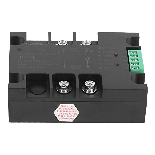 【𝐒𝐩𝐫𝐢𝐧𝐠 𝐒𝐚𝐥𝐞 𝐆𝐢𝐟𝐭】BERM DC Voltage Regulation Practical Relay, Heat Dissipation SSR, for 3D Printer Hot Bed Heated Bed(BEM-100-ZN-TY-220)