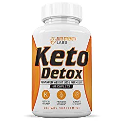 Keto Detox Cleanse Weight Loss - Best Colon Cleansing Supplement - Supports Weight Loss - Boosts Energy Levels - Made with Natural Ingredients - Improve Digestion - 60 Caplets
