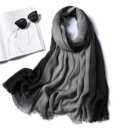 ShZyywrl Bufanda Mujer De Bufandas Gorro Chal Bufanda De Mujer De Moda Gradiente De Algodón Sólido Chales Envuelve Señora Bufandas De Invierno Mujer Fular Estolas Cuello