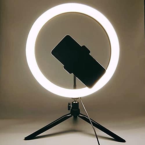 Pkfinrd Anillo de Anillo Ligero trípode Ligero LED Anillo Iluminado iluminación de Anillo con luz de Video de Soporte para Youtube (Color : Only50cm Tripod)