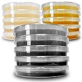 Agar Variety Kit by Evviva Sciences - Prepoured Potato Dextrose Agar, Malt Extract Agar, & Potato Dextrose Agar w/Activated Charcoal - Superior Plates - Great for Mushrooms & Science Projects