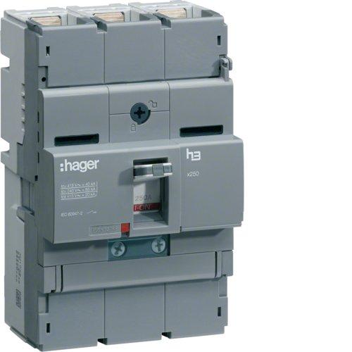 Hager x250 - Interruptor automático x250 3p3d 40ka 125a tm regulable