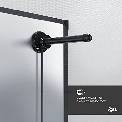 CSL - Antenne Tige numérique de 30 DB - TV PC Mac - antenne DVB-T DVB-T2 TNT Portable puissante avec Pied magnétique Stable - Gain de rayonnement de 30 DB - Grande Puissance de réception