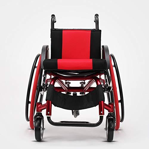 SXFYGYQ Rollstuhl Klappbare Aluminiumlegierung Old Man Cart Trolley Rückenlehne Verstellbar mit Anti-Dumping-Radschutz Deaktivierte Rollstühle