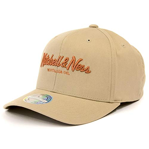 Mitchell & Ness 110 Curved Snapback Metallic Pinscript OB (Khaki/Copper, OneSize)