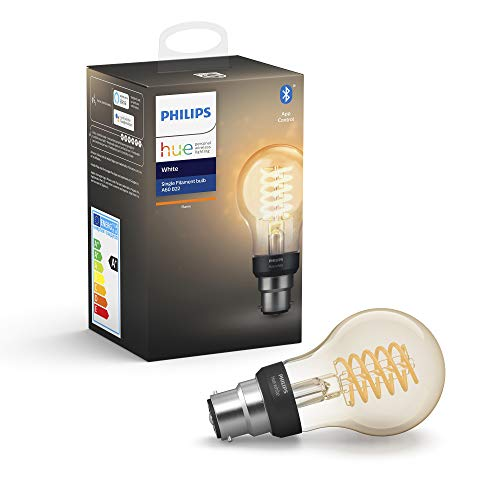 Philips Hue - Lampadina LED con filamento E27, compatibile con Bluetooth e Alexa Filamento B22...