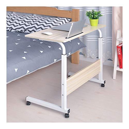 Ordenador portátil extraíble Tabla cama Escritorio portátil soporte de mesa de noche Sofá cama ajustable escritorio de computadora portátil con ruedas 40 * 60cm Mesa Plegable de Portátil Soportes de R