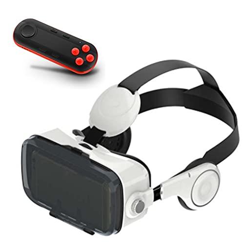 ZJJY Gafas de Realidad Virtual, 3D Gafas VR para Juegos Visión Panorámico 3D Juego Immersivo Móviles de Pantalla 4.7-6.5 Pulgadas para iPh X/7/6s 6/Plus, Galaxy s8/ s7, etc. L119XQ