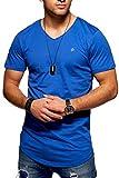 JACK & JONES Herren T-Shirt Kurzarmshirt Oversize Longshirt Basic V-Neck (X-Large,...
