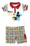 Conjunto Mickey Mouse Disney para bebés algodón - Pijama Mickey Mouse Disney Baby para niños (Rojo, 24 Meses)