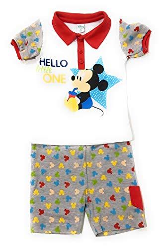 Micky Maus Disney Baby Schlafanzug Baumwolle - Mickey Mouse Disney Baby Kinder (rot, 3 Monate)