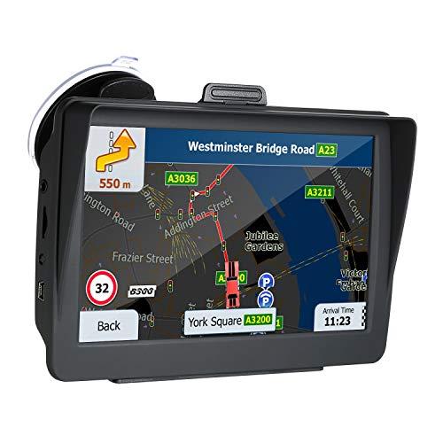 KKmoon HD GPS Navegador de 7 Pulgadas para Coche, 8G Guía de Voz, Alertas Direccionales de Límite de Velocidad con 3D Mapa Europea