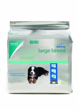 Kannis Puppy Trockenhundefutter mit Huhn & Reis für große Rassen- 1 kg
