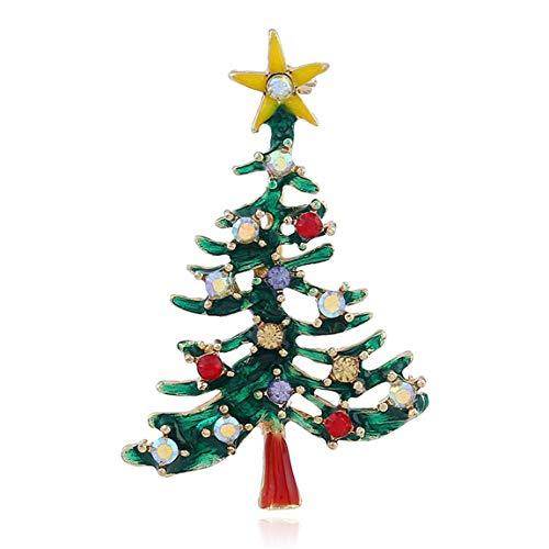 SeniorMar-UK Kreative Hohle Weihnachtsbaum Pin Brosche Anhänger Kostüm Schmuck Zubehör für Frauen und Mädchen Geschenke
