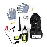 3 en 1 Jack de piso eléctrico Llave eléctrica Bomba de aire Juego de linterna LED Kit de reparación de automóviles