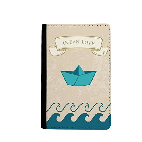 beatChong Papier Falten Boot Ozean-Liebe Meer Segeln Pass-Halter Travel Wallet Abdeckungs-Fall Karten-Geldbeutel
