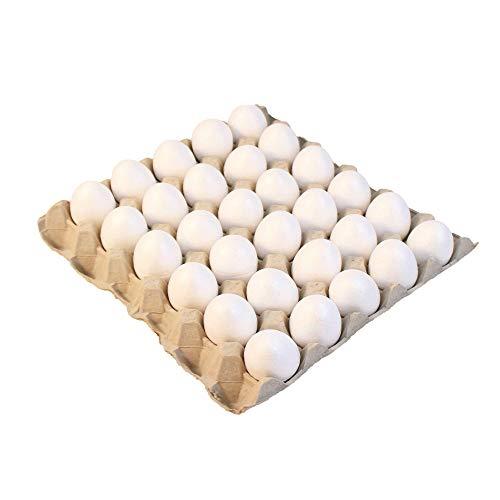 BODA Creative Styropor-Eier, ca. H 6 cm auf Eierpalette Eierhöcker, 30 Stück Osterei Bastelei