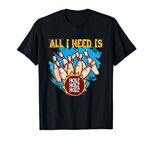 Kegel T-Shirt Holz Kegelshirt Kegeln Kegler T-Shirt Geschenk
